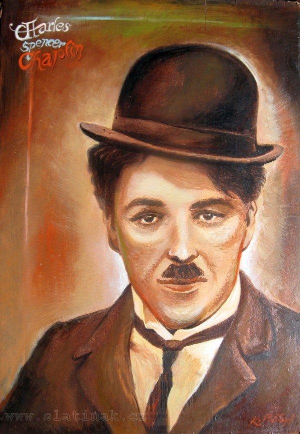 Karel Přibyl - obraz Charles Spencer Chaplin