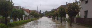 Záplavy po vydatných deštích