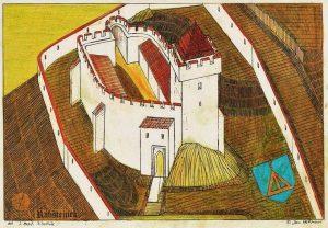 Podoba hradu Rabštejn podle Jana Heřmana