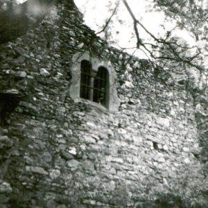 Rabštejn - původní okno na západní stěně - historická fotka