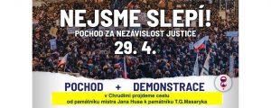 Chrudim: Nejsme slepí! Pochod za nezávislost justice v Chrudimi