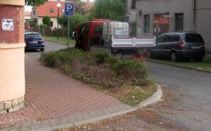 údržba města zalévá zeleň