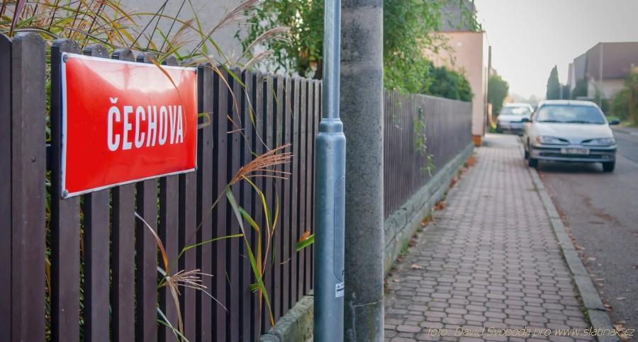 Čechova ulice - uliční cedule