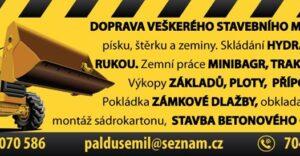 Téma: Zemní práce Paldus Emil Orel