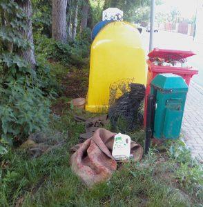 Téma: Odpadky odložené u kontejnerů