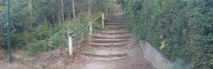 Téma: Schodiště proti pomníku ve Škrovádě na návsi