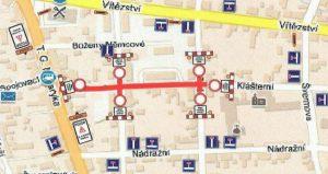 Uzavírka Klášterní ulice a křižovatek po dobu rekonstrukce