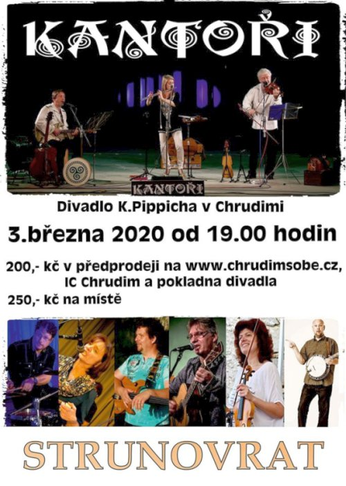 povánka koncert Kantoři Strunovrat 2020 Chrudim