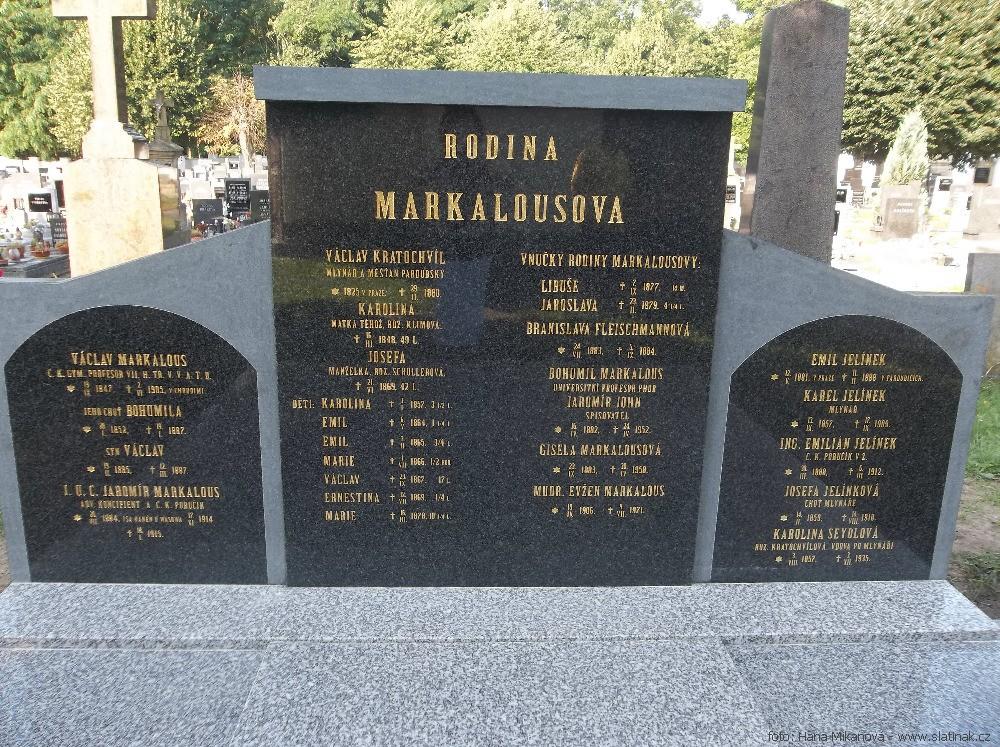 náhrobek Jaromír John Pardubičky - detail