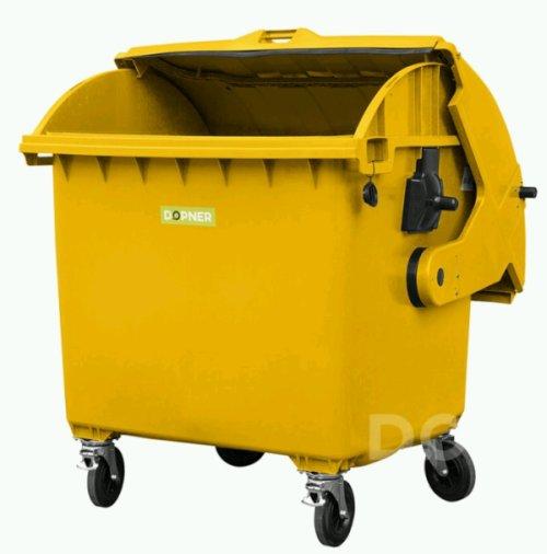 žlutý kontejner na plasty